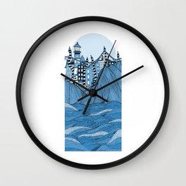 Sea cliff Town Wall Clock