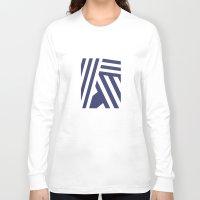nautical Long Sleeve T-shirts featuring Nautical Stripes by Charlene McCoy