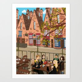 Brunch in Hogsmeade Art Print