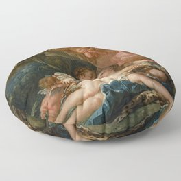 """François Boucher """"Jupiter and Callisto (The Nymph Callisto Seduced by Jupiter in the Guise of Diana) Floor Pillow"""