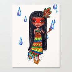 A menina que chovia Canvas Print