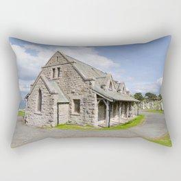 Saint Tudno church 2 Rectangular Pillow