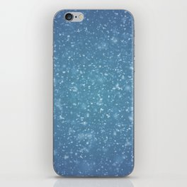 Hand painted blue white watercolor brushstrokes confetti iPhone Skin