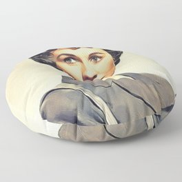 Jean Simmons, Vintage Actress Floor Pillow