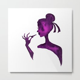 DIVA WITH Lipstick - PAINTED - Gorgeous VIOLET Metal Print