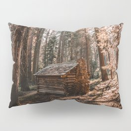 Log Cabin in the Forest Pillow Sham