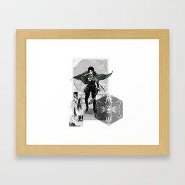 Captain Levi Attack on Titan Shingeki no kyojin Framed Art Print