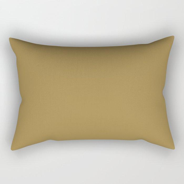 Sherwin Williams Trending Colors of 2019 Grandiose (Golden Brown) SW 6404 Rectangular Pillow