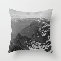 jon snow Throw Pillows featuring Archangel Valley by Kevin Russ
