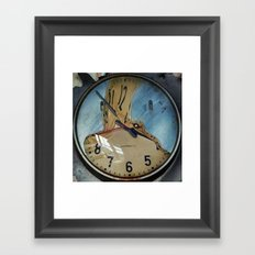 MELTED CLOCK Framed Art Print