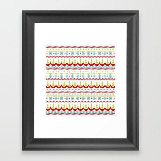 Homespun Christmas Striped Pattern by 19monkeys