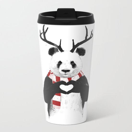 Xmas panda Metal Travel Mug