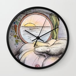 Nap Time, Illustration Wall Clock