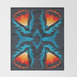 Floral symmetry 2.  Throw Blanket