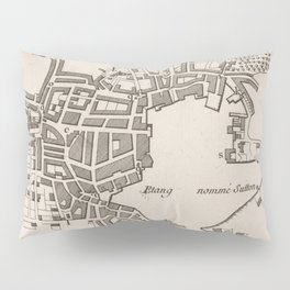 Vintage Map of Plymouth England (1764) Pillow Sham