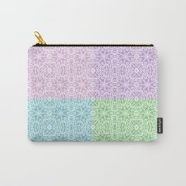 Pastel Panel Pink Lavender Green Blue Carry-All Pouch