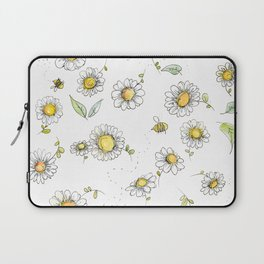 Bees and Daisies Laptop Sleeve