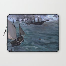 """Édouard Manet """"The Battle of the U.S.S. Kearsarge and the C.S.S. Alabama"""" Laptop Sleeve"""