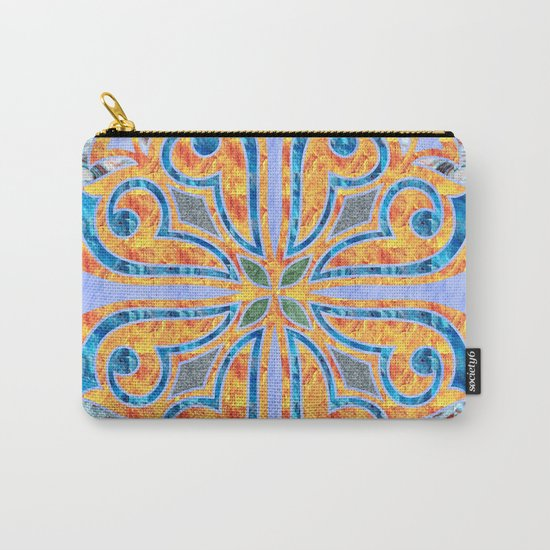 Blue Oriental Tile 02 Carry-All Pouch