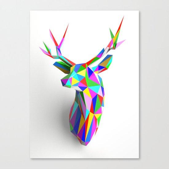 3D Stag Canvas Print