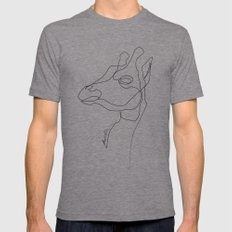 Giraffe Line Tri-Grey Mens Fitted Tee SMALL