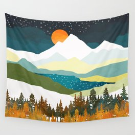 Winters Night Wall Tapestry