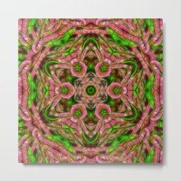 Vibrant surreal wattle kaleidoscope Metal Print