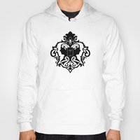 damask Hoodies featuring Detective's Damask by Jango Snow