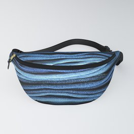 Layered Blue Fanny Pack