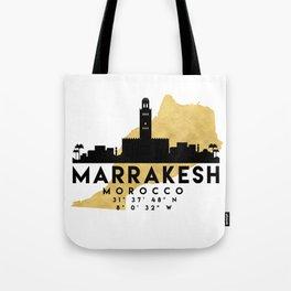 MARRAKESH MOROCCO SILHOUETTE SKYLINE MAP ART Tote Bag