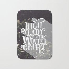 High Lady Winter Court - Snowing Bath Mat