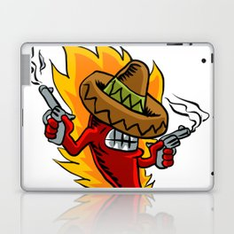 Mexican red chili pepper with guns. Laptop & iPad Skin