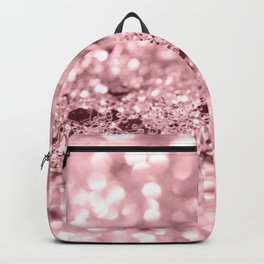 Rose Gold Blush Girls Glitter #1 #shiny #decor #art #society6 Backpack