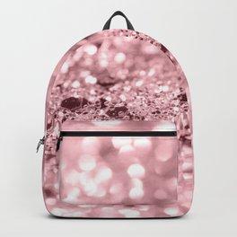 Rose Gold Blush Girls Glitter #1 #shiny #decor #art #society6 Backpack