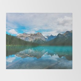 The Mountains and Blue Water - Nature Photography Throw Blanket