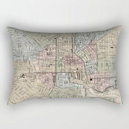 Map of Baltimore 1874 Rectangular Pillow