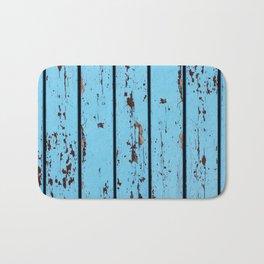 Blue Wooden Planks Bath Mat