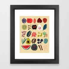 Fruit and Spice Rack Framed Art Print