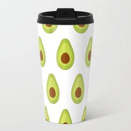 Avocados on white Travel Mug