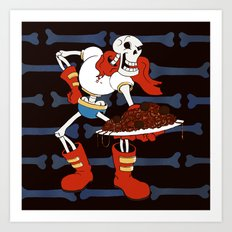 Papyrus and his Spaghetti Art Print