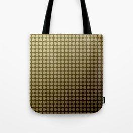 Olive green polka dot pattern . Tote Bag
