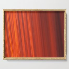 Red & Orange Sunset Stripes Serving Tray