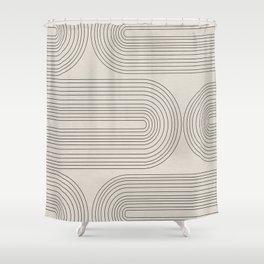 Minimalist, Line Art Modern Shower Curtain