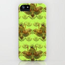 Giant Dead Leaf Mantis (Deroplatys desiccata) pattern iPhone Case