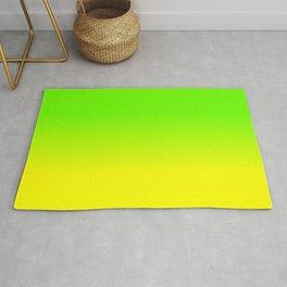 Neon Green and Neon Yellow Ombré  Shade Color Fade Rug