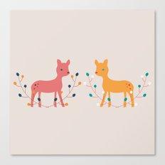 deer fun Canvas Print