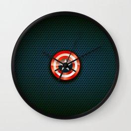 "Shield ""Catpain America"" Wall Clock"