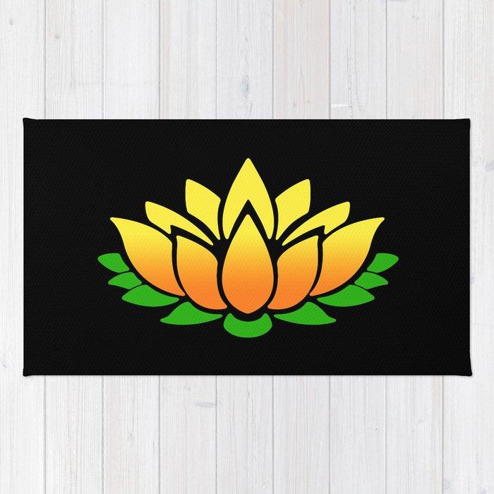 Yellow Lotus Rug