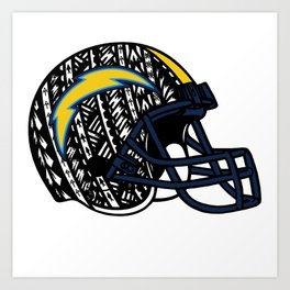 Poly Tribal Chargers Art Print
