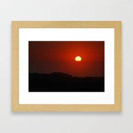 yellow ball Framed Art Print